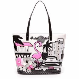 CARTOLINE MIAMI SHOPPING BAG B10213-YY